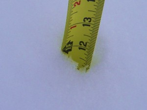 12 inches of new snow